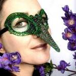 Green Humming Bird Mask, L..